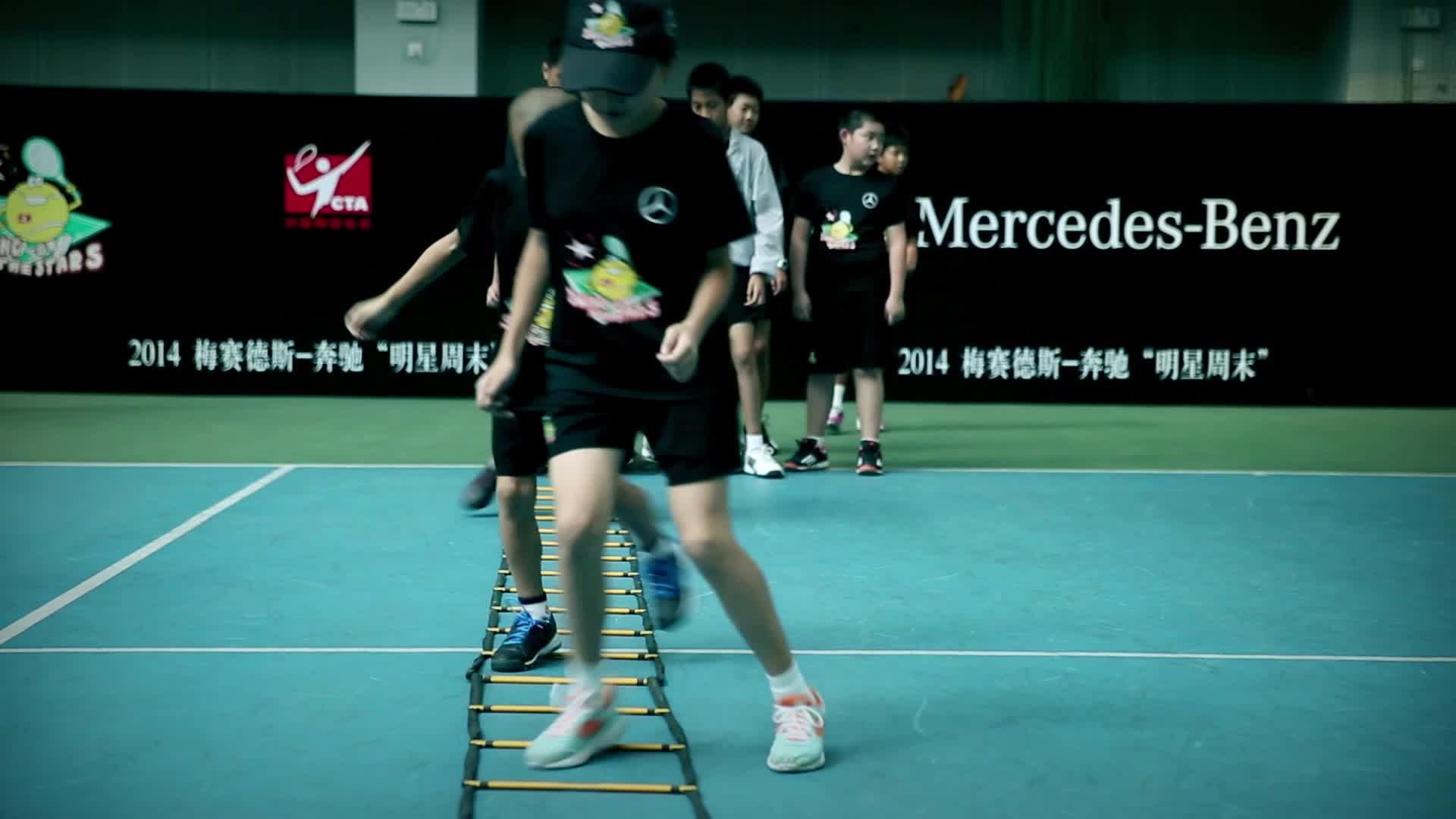 """梅赛德斯-奔驰""""明日之星""""青少年武术日本网球动作片图片"""