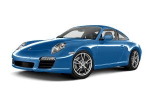 保时捷911               水蓝色金属漆