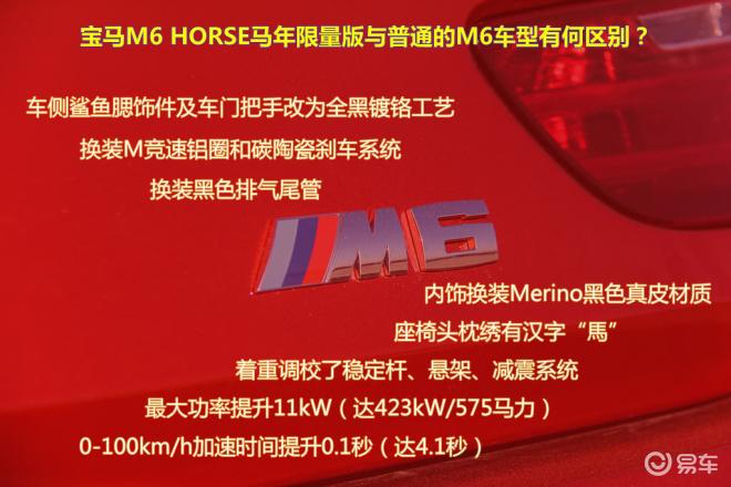 宝马M6 马年限量版图说
