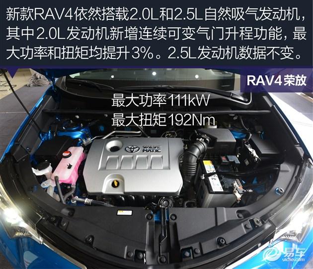 丰田rav4荣放图解 内饰 仅仪表盘有变化 配置有增有减