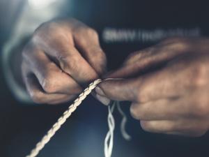 宝马7系(进口)09. 手工编织真皮装饰图片