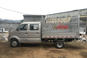 跨越王1.5L双排双后轮2.55米仓栅式运输车