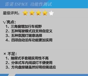 """雷诺ESPACE""""日久生情""""的法式体验 雷诺ESPACE功能性测试图片"""