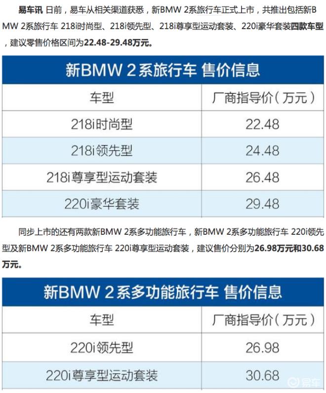 抢先实拍2018款宝马2系多功能旅行车 难得的进口七座旅行车