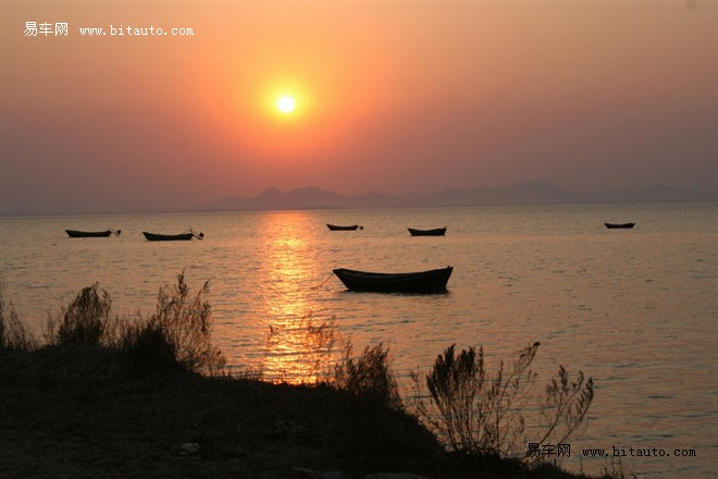 【葫芦岛-菊花岛海边夕阳美景图片】-易车网b