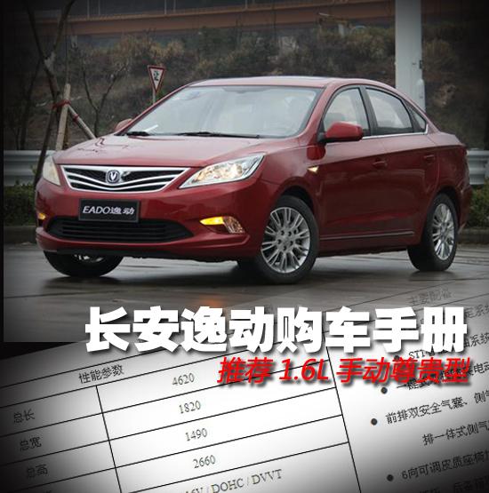长安逸动购车手册 推荐1.6L手动尊贵型