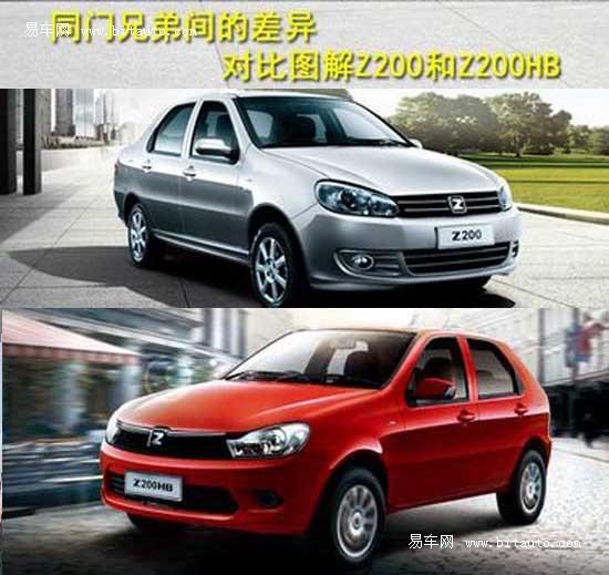 同门兄弟间的差异 图解众泰Z200与Z200HB