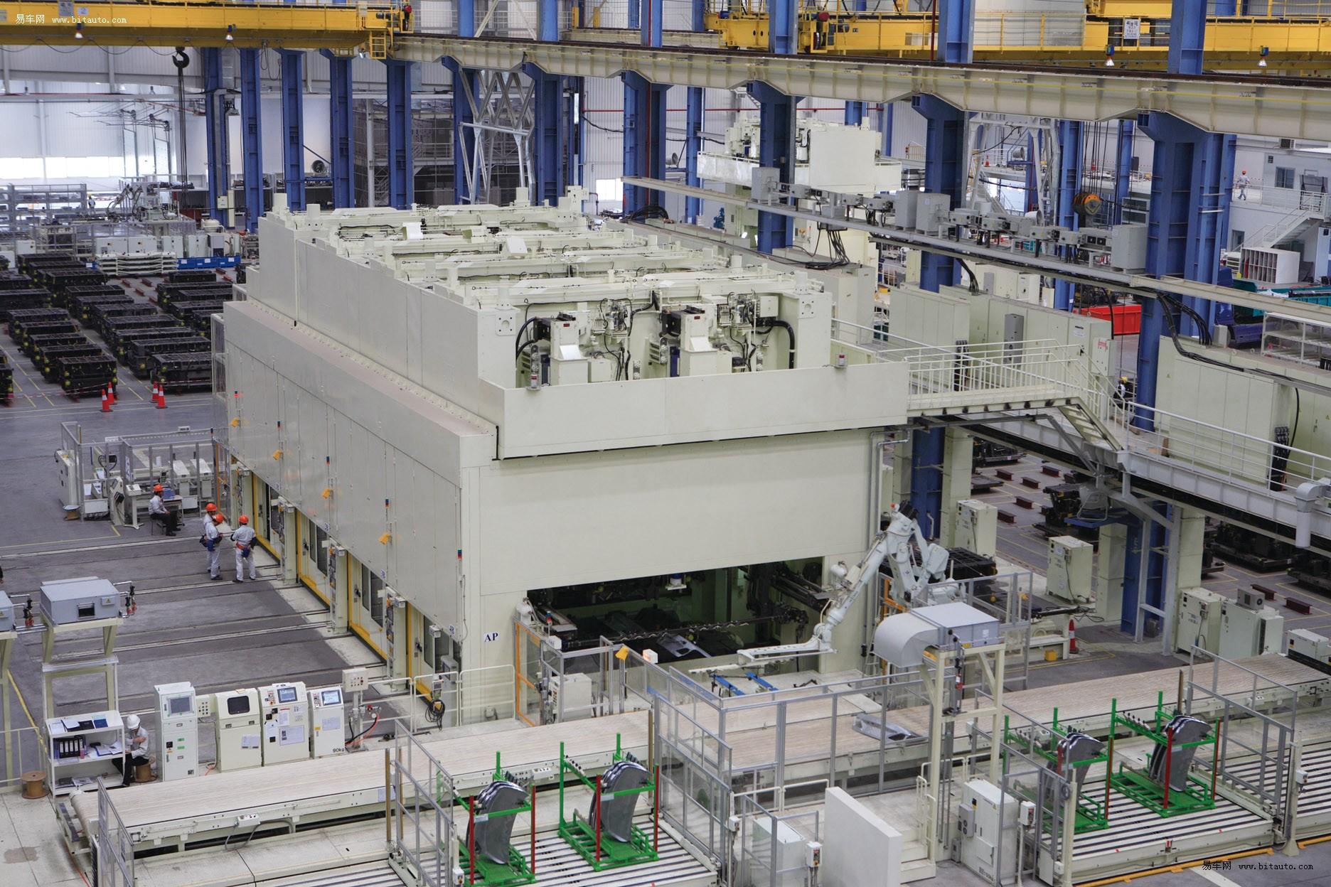 丰田/广汽丰田冲压车间装配了全球领先的伺服压力机