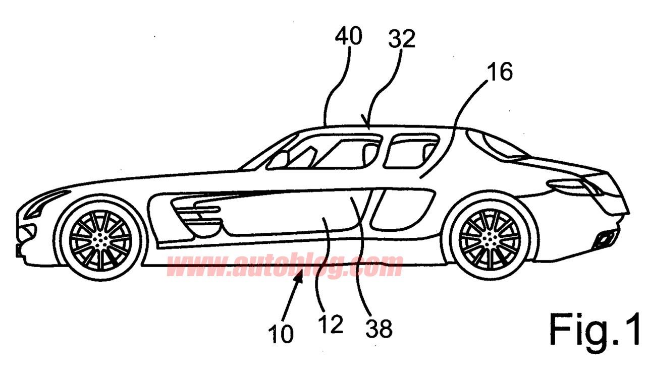 设计图曝光 奔驰sls amg四门版将申请专利