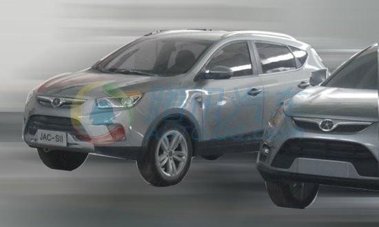 此前媒体曝光的江淮全新SUV SII无伪谍照