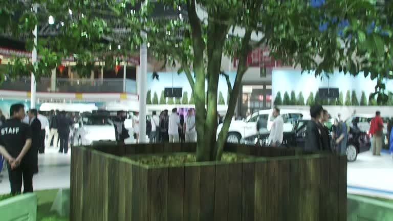 2012北京车展 丰田展台绿色效能