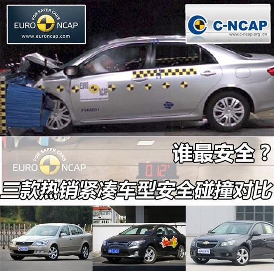 经过安全碰撞测试的车型配置对比:   碰撞车型明锐明锐(欧高清图片
