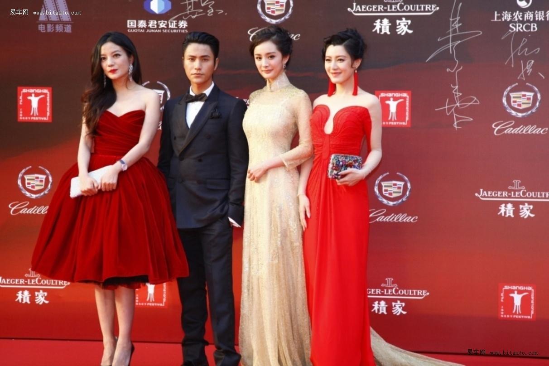 """(2012年6月16日,上海) 凯迪拉克(Cadillac)作为第十五届上海国际电影节官方合作伙伴及明星指定用车与400多位海内外明星大腕一同打造了又一季星光璀璨的""""亚洲第一红毯""""。是夜,第十五届上海国际电影节在上海大剧院隆重开幕,奢华尊享的凯迪拉克豪华商务座驾SLS赛威陪护众明星抵达现场,知名导演冯小刚、王晶、陆川、贾樟柯、王全安,红毯宠儿林志玲、张柏芝、杨幂、张雨绮、钟丽缇,实力影帝影后周润发、梁朝伟、吴镇宇、刘烨、张震、黄秋生、陈坤、黄渤、徐帆、吴君如、赵薇,影视新势力陈妍希、陈"""