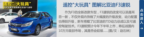 """遥控""""大玩具"""" 北京车展图解比亚迪F3速锐"""