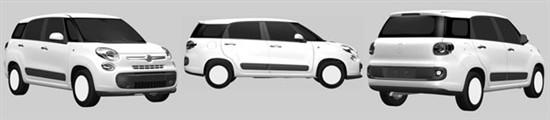 菲亚特七座车型500XL专利申报图曝光
