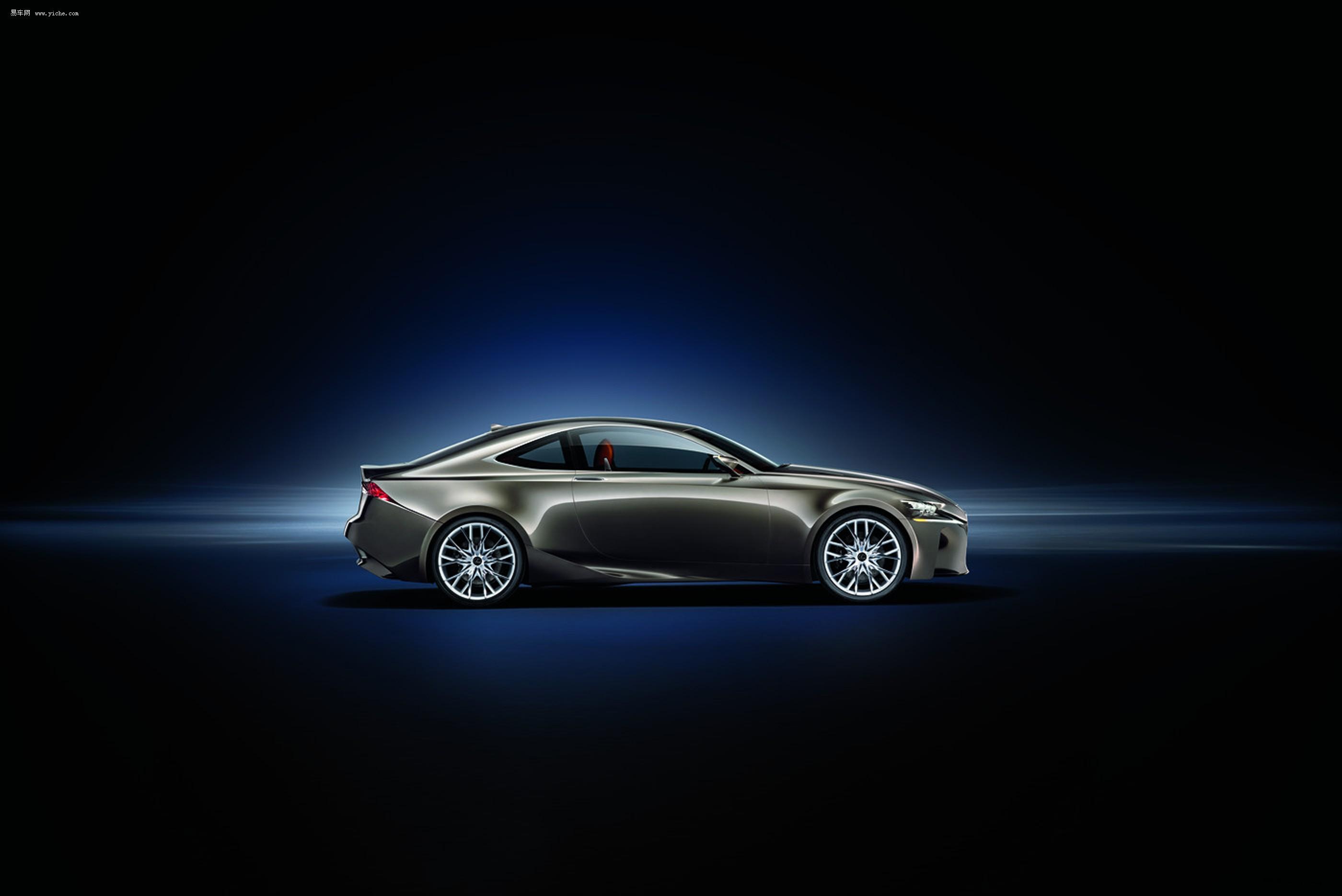 雷克萨斯lf cc概念车车顶轮廓线一体成型,极具流线感 高清图片