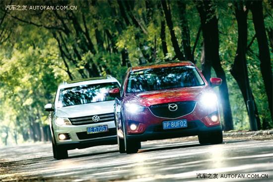 技术范儿 马自达CX-5对比上海大众途观