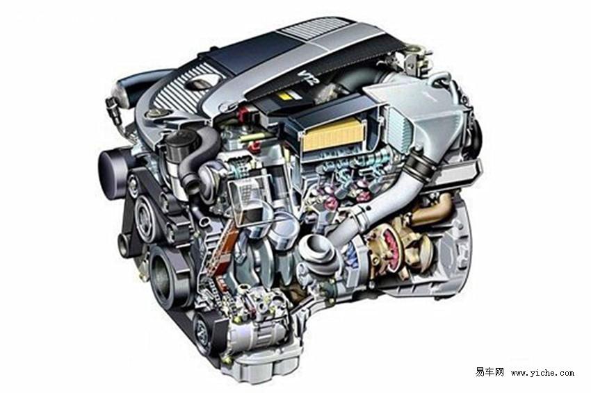 而是通过复杂的空间结构将两台夹角很小的v型发动机的四列气缸连接在