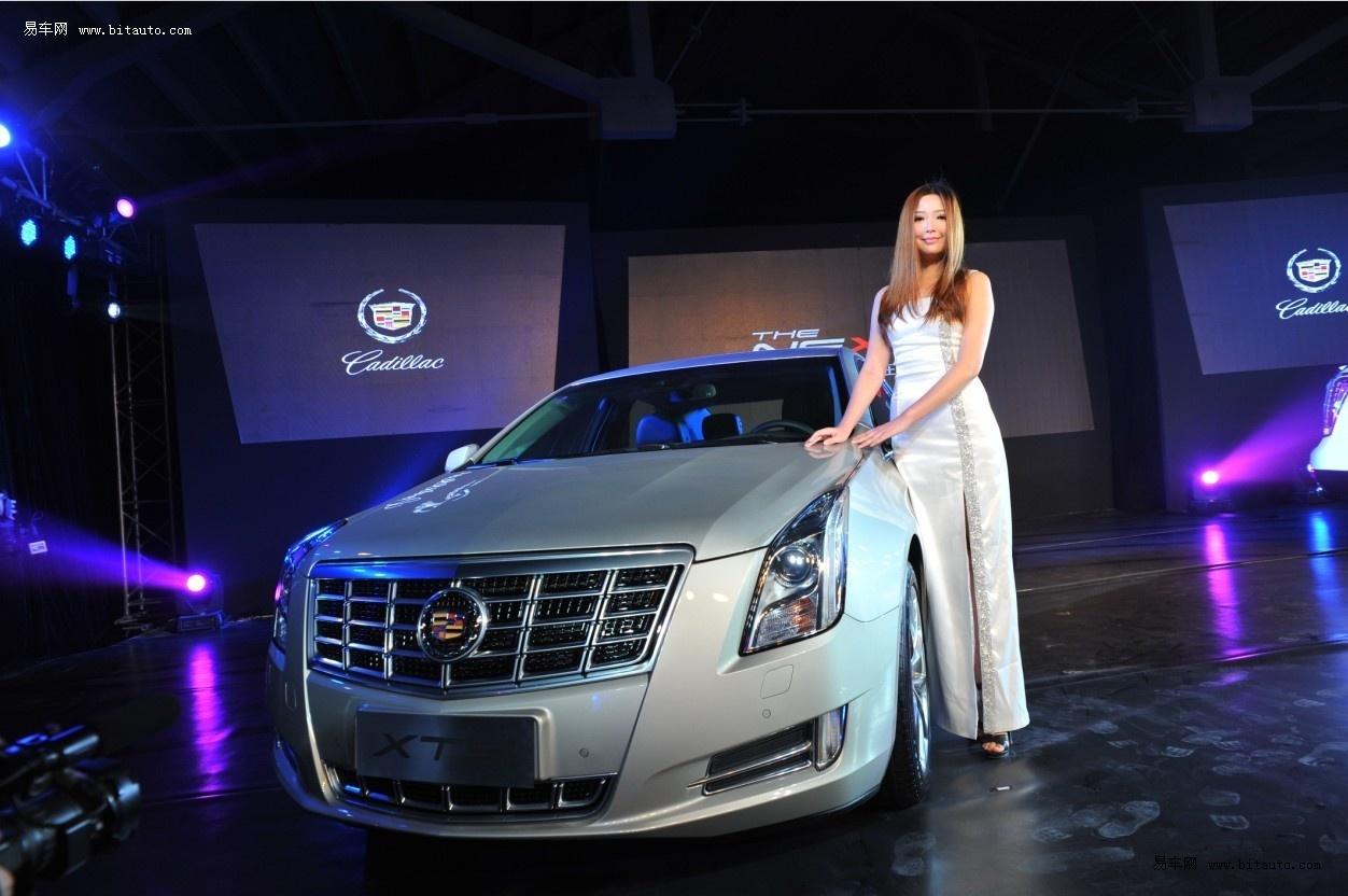 美女车模与xts及全新srx 凯迪拉克全新豪华轿车xts高清图片