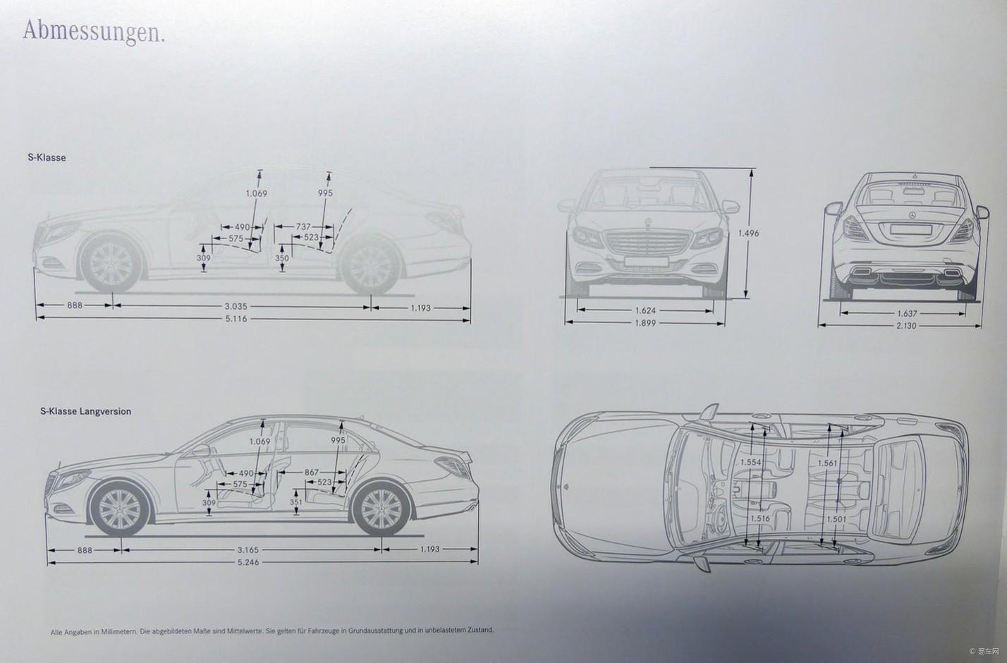 曝奔驰全新s级官图 2种轴距/3种动力配备