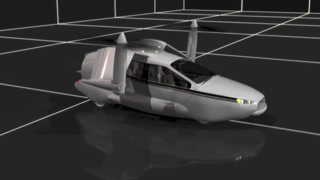 想飞就飞 未来汽车飞行动画演示