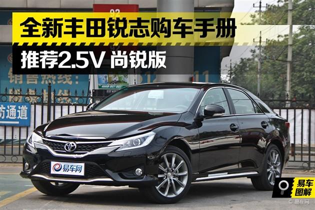 全新丰田锐志购车手册 推荐2.5V尚锐版
