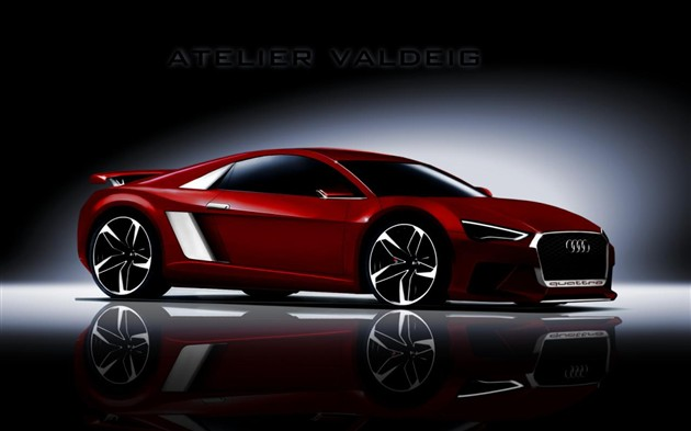 奥迪换代R8最新假想图曝光 整车质量更轻