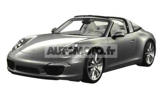 曝保时捷全新911 Targa专利图 或明年发布