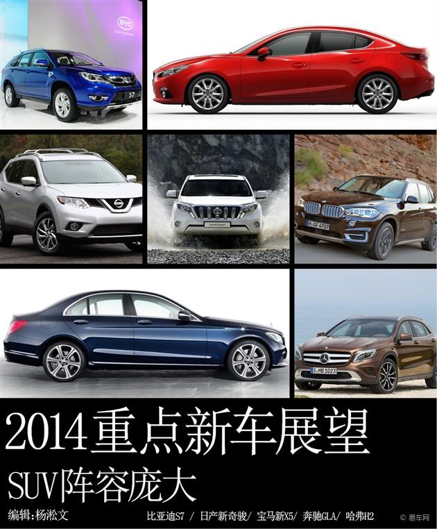 SUV阵容庞大 2014年重点新车展望