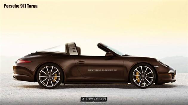 保时捷911 Targa渲染图曝光 或亮相日内瓦