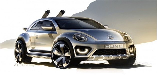 甲壳虫SUV概念车效果图曝光 或底特律首发