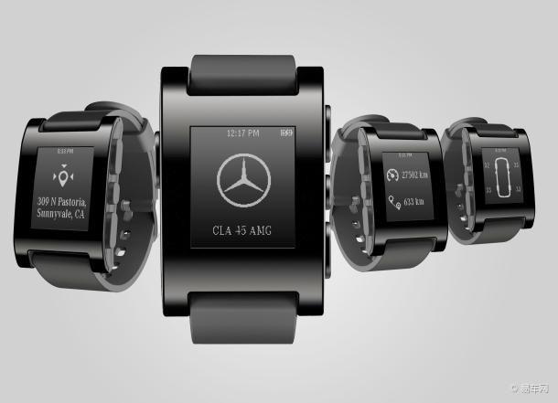 奔驰Pebble智能手表亮相CES电子消费展