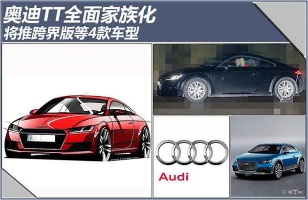 奥迪TT全面家族化 将推跨界版等4款车型