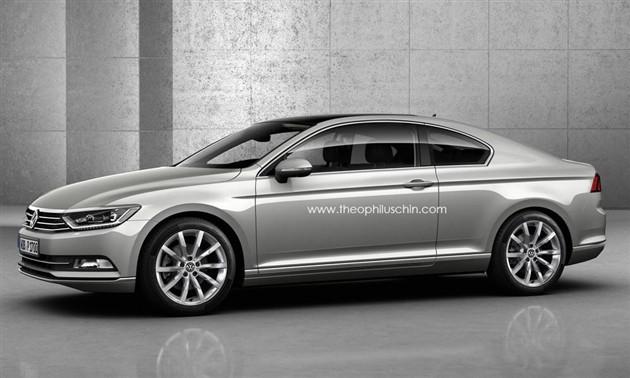 大众全新Passat Coupe/猎装版假想图曝光
