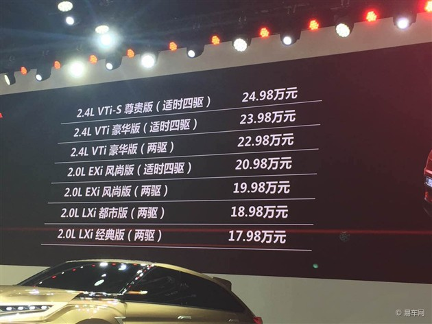 东风本田新款CR-V上市 售18.98万起