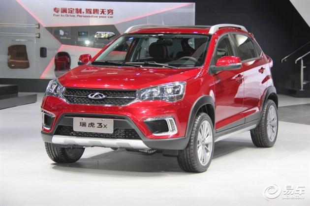 奇瑞瑞虎3X亮相北京车展 或10月份上市
