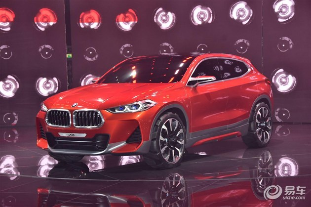 宝马X2概念车亮相巴黎车展 造型接近量产