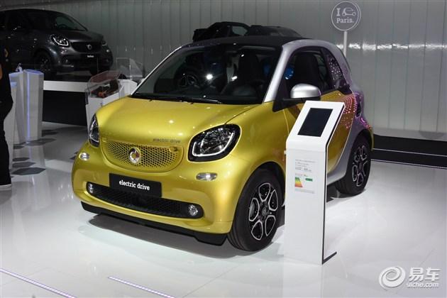 smart三款纯电动车型亮相巴黎 续航160km
