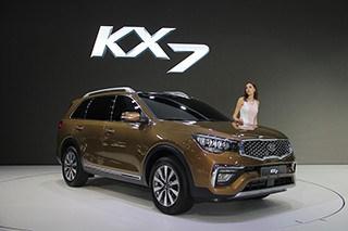 实拍东风悦达起亚KX7 7座中型SUV新贵
