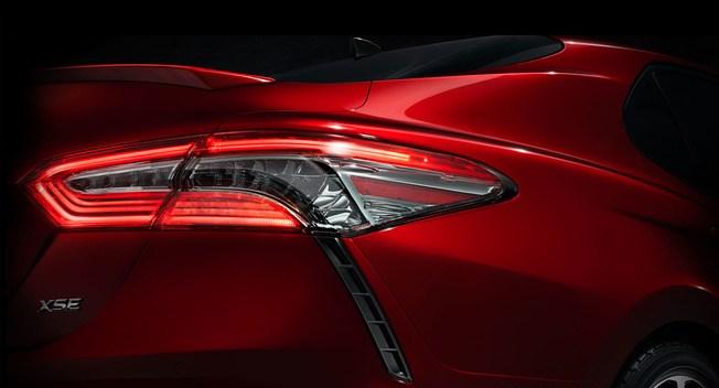 全新凯美瑞官方预告图公布 北美车展首发
