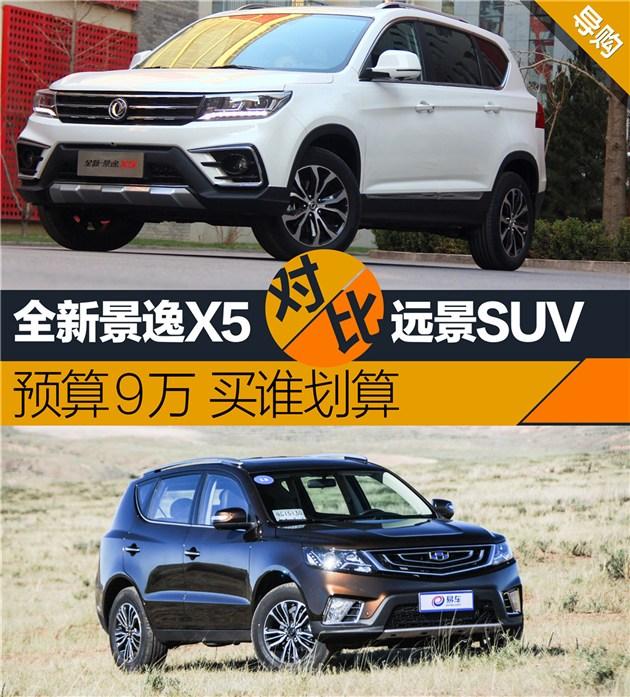 预算9万高颜值SUV 全新景逸X5对比远景SUV