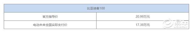 比亚迪秦100焕新登场 官方指导价20.99万元