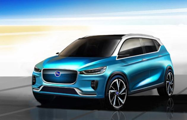 汉腾EV概念车上海车展发布 外形简约时尚