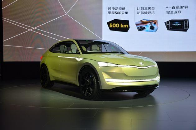 斯柯达Vision E概念车亮相 纯电动SUV 续航500公里