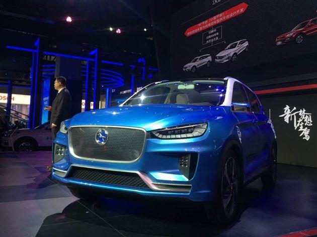 汉腾EV概念车上海车展发布 设计具有冲击感
