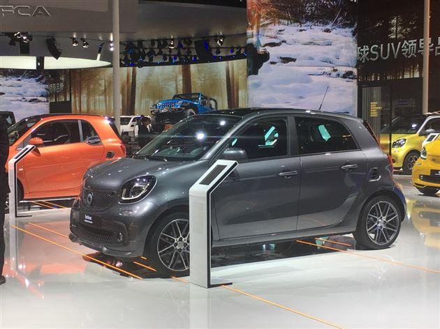 2017上海车展:smart forfour BRABUS首发