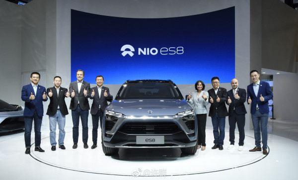 蔚来中国首秀携11辆车 最新量产车ES8亮相