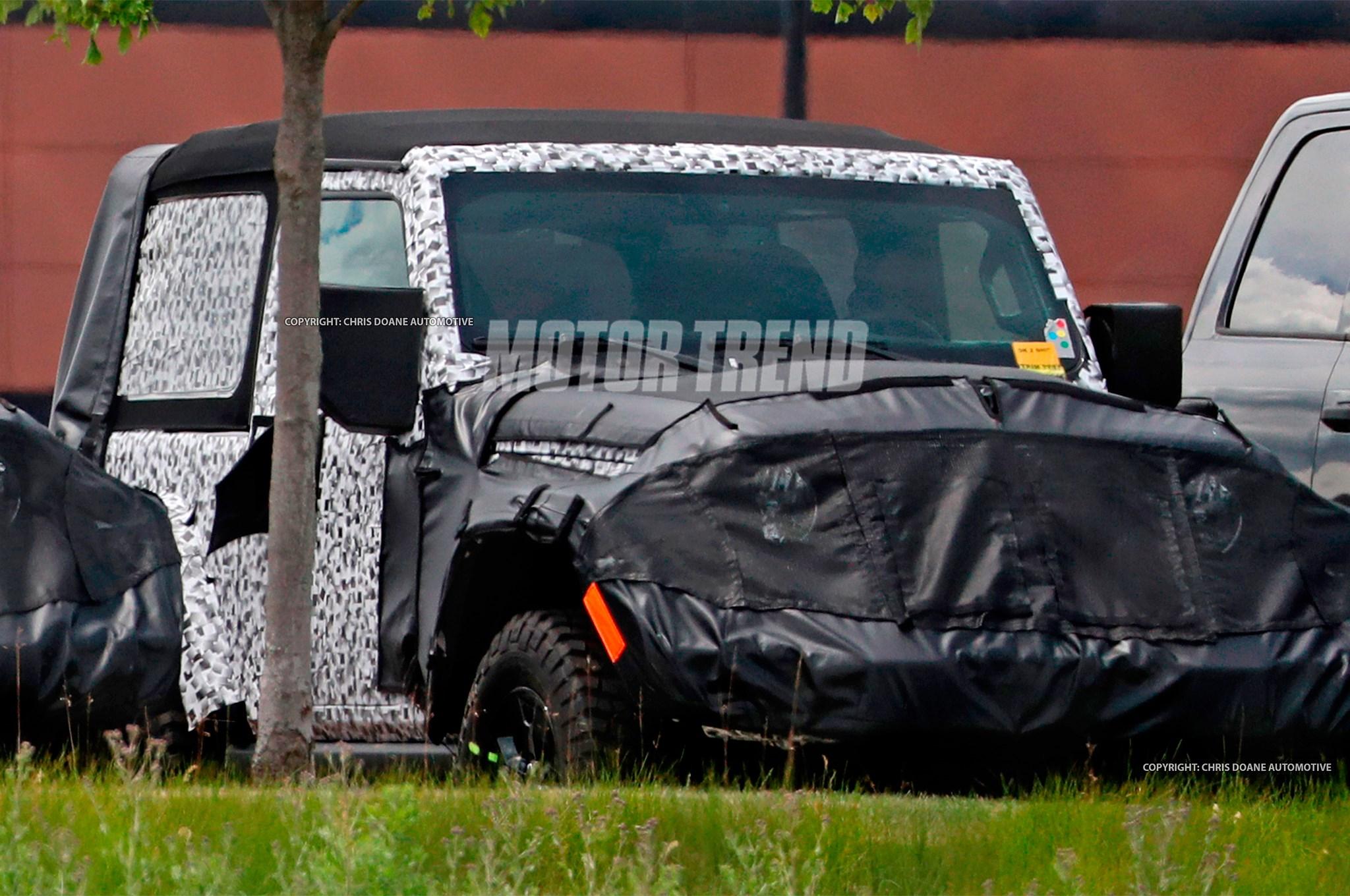 Jeep全新牧马人双门版谍照 2017年底投产