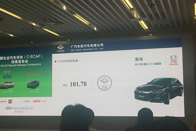 2017第二批生态汽车评价C-ECAP评价结果发布