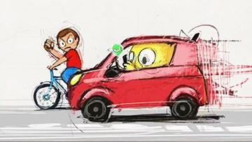 福特表情包广告 开车不玩手机